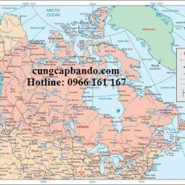 BẢN ĐỒ NƯỚC CANADA – CANADA MAP