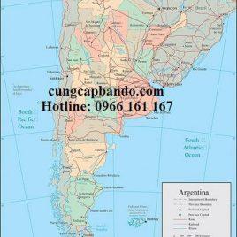 BẢN ĐỒ NƯỚC ARGENTINA – ARGENTINA MAP