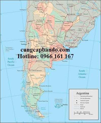 Ban do nuoc ARGENTINA