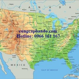 BẢN ĐỒ NƯỚC MỸ – USA MAP (MẪU 2)
