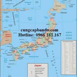BẢN ĐỒ NƯỚC NHẬT – JAPAN MAP