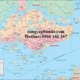 BẢN ĐỒ NƯỚC SINGAPO – SINGAPORE MAP
