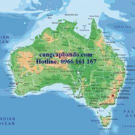 BẢN ĐỒ NƯỚC ÚC – AUSTRALIA MAP (MẪU 3)
