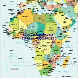 BẢN ĐỒ CHÂU PHI – AFRICA MAP