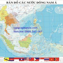 BẢN ĐỒ CÁC NƯỚC ĐÔNG NAM Á TIẾNG ANH – ASEAN MAP
