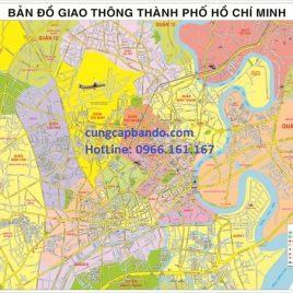 Bản đồ giao thông TPHCM được thiết kế riêng