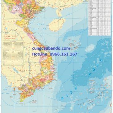Bản đồ Việt Nam khổ lớn chất lượng tốt nhất thị trường