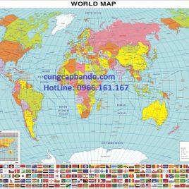 BẢN ĐỒ THẾ GIỚI (MẪU 1) – WORLD MAP (MẪU 1)
