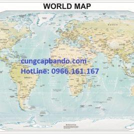 BẢN ĐỒ THẾ GIỚI (MẪU 10) – WORLD MAP (MẪU 10)