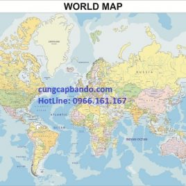 BẢN ĐỒ THẾ GIỚI (MẪU 12) – WORLD MAP (MẪU 12)