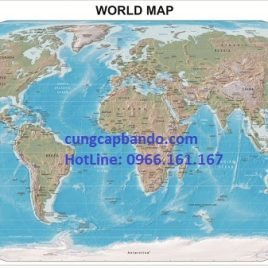 BẢN ĐỒ THẾ GIỚI (MẪU 15) – WORLD MAP (MẪU 15)