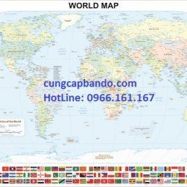 BẢN ĐỒ THẾ GIỚI (MẪU 16) – WORLD MAP (MẪU 16)