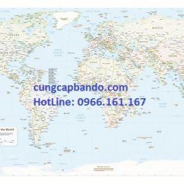 BẢN ĐỒ THẾ GIỚI (MẪU 18) – WORLD MAP (MẪU 18)