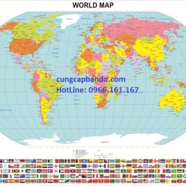 BẢN ĐỒ THẾ GIỚI (MẪU 2) – WORLD MAP (MẪU 2)