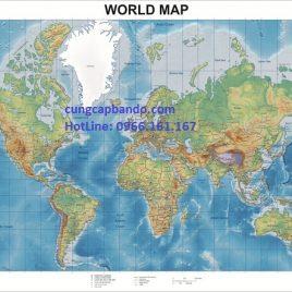 BẢN ĐỒ THẾ GIỚI (MẪU 4) – WORLD MAP (MẪU 4)