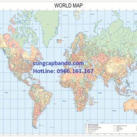BẢN ĐỒ THẾ GIỚI (MẪU 5) – WORLD MAP (MẪU 5)