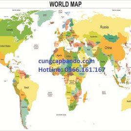BẢN ĐỒ THẾ GIỚI (MẪU 6) – WORLD MAP (MẪU 6)