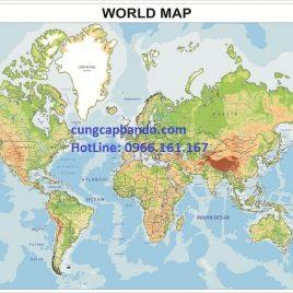 BẢN ĐỒ THẾ GIỚI (MẪU 8) – WORLD MAP (MẪU 8)