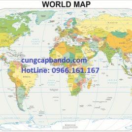 BẢN ĐỒ THẾ GIỚI (MẪU 9) – WORLD MAP (MẪU 9)