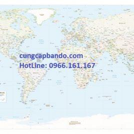 BẢN ĐỒ THẾ GIỚI (MẪU 19) – WORLD MAP (MẪU 19)