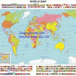 BẢN ĐỒ THẾ GIỚI (MẪU 21) – WORLD MAP (MẪU 21)
