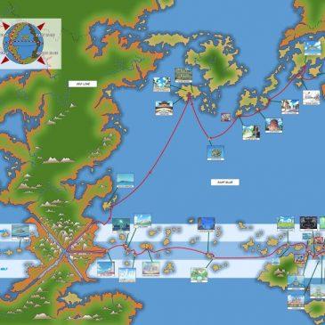 Khám phá bản đồ thế giới one piece