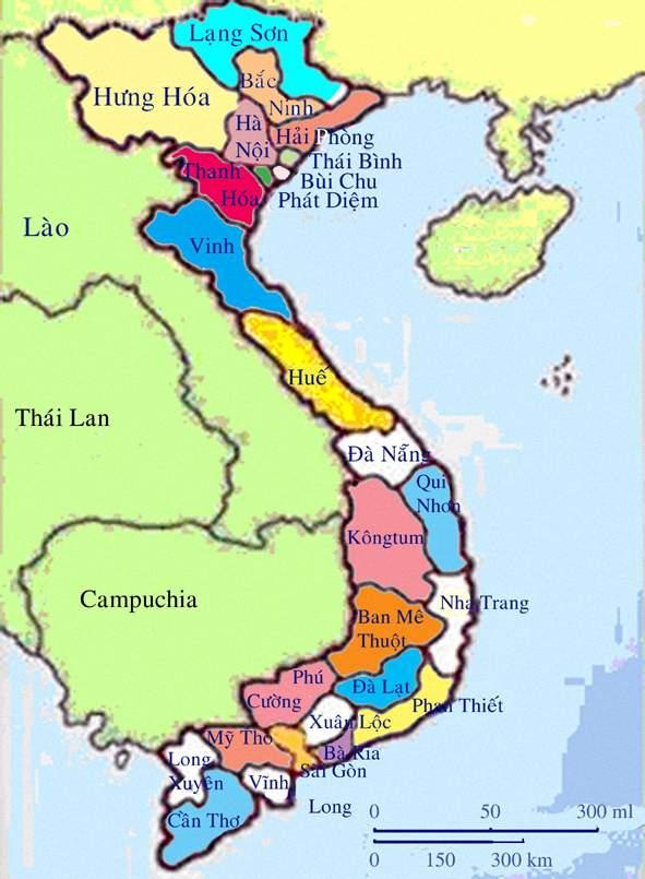 Bản đồ Việt Nam hình chữ S