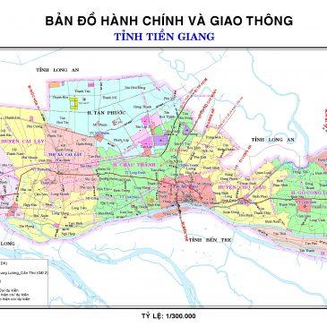 Bản đồ hành chính thị xã Cai Lậy thể hiện những gì?