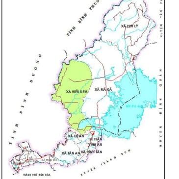 Bản đồ huyện Vĩnh Cửu Đồng Nai