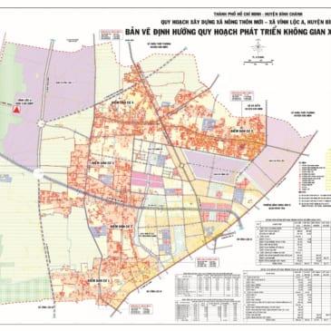 Tổng quan bản đồ quy hoạch xã Vĩnh Lộc A