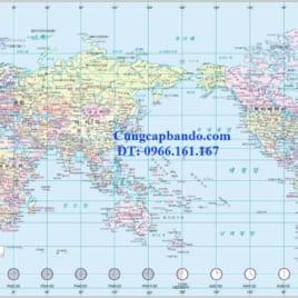 Bản Đồ Thế Giới Tiếng Hàn